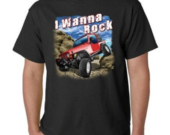 I Wanna Rock Off Road Jeep T-Shirt All Sizes & Colors  (669