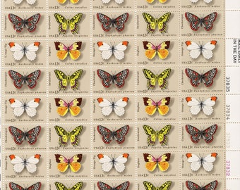 Butterflies  (50) Mint Never Hinged- Scott  1712-15 - 1977  Full Sheet Postage Stamps Vintage