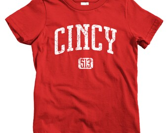 Kids Cincy 513 T-shirt - Baby, Toddler, and Youth Sizes - Cincinnati Tee, Ohio - 4 Colors
