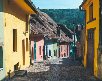 Art Print: Colorful Country Streets