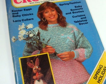 Quick and Easy Crochet, Spring and Holiday Issue, Easter Eggs, Lacy Collars, Baby Bonnets, Booties, Curtains, Table Top Decor  (866-14)