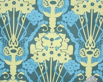 140258417 - Anna Maria Horner Drawing Room Nouveau Bouquet Teal FULL BOLT