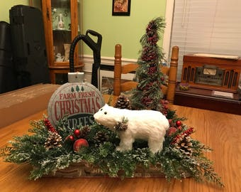 Christmas table topper or centerpiece