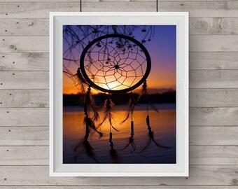 Sunset Dreamcatcher Sunset Photography Dreamcatcher Photo Photography Art Wall Art Digital Image Downloadable Print