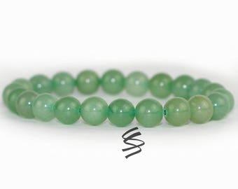 8mm, Green Aventurine Bracelet, Aventurine Bracelet, Green Bead Bracelet, Green Aventurine Jewelry, Chakra Bracelet, Healing Bracelet