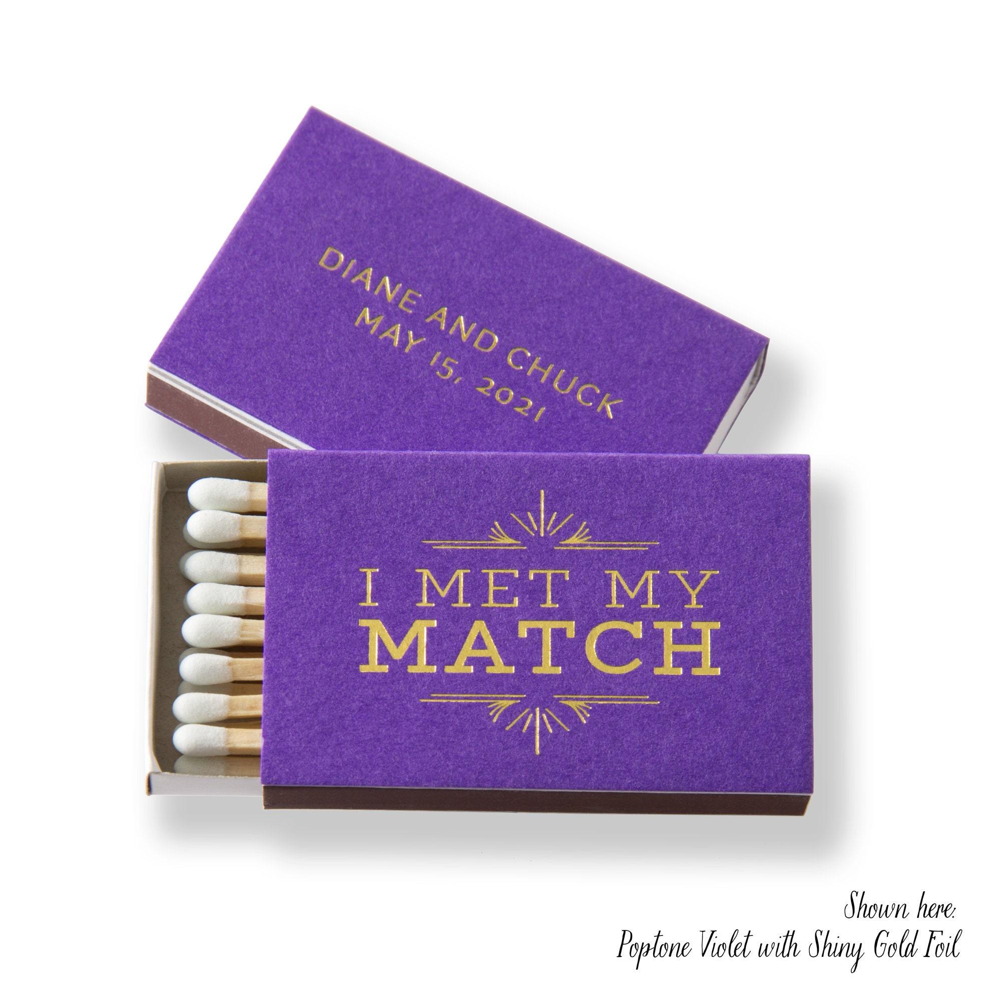 I Met My Match Deco Matchboxes Wedding Favors Wedding