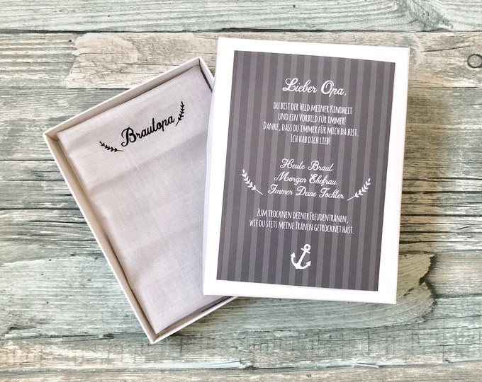 Gift Brautopa handkerchief for tears of joy
