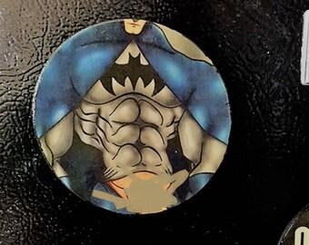 Gay Batman Magnet, Gay Super Hero Magnet, Refrigerator Magnet, Gay Couple Art, Gay Male Magnet, Gay Pride, Gay Male Art,