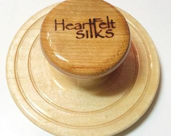 Wet Felting Tool, Patented Palm Washboard from HeartFeltSilks, Maple & Black Cherry. Feltmaking, Nunofelting, Nuno Felting, Artist Tool