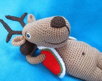 Amigurumi Reindeer Christmas Animal Toy Doll Crochet Pattern PDF including bonus pattern