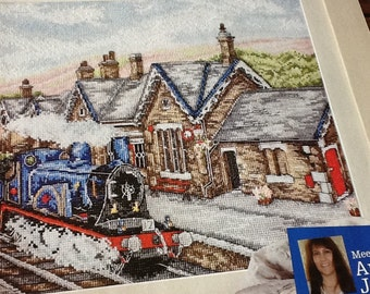 ANCHOR EXCLUSIVE - Settle Railway Station - Cross Stitch Pattern Only