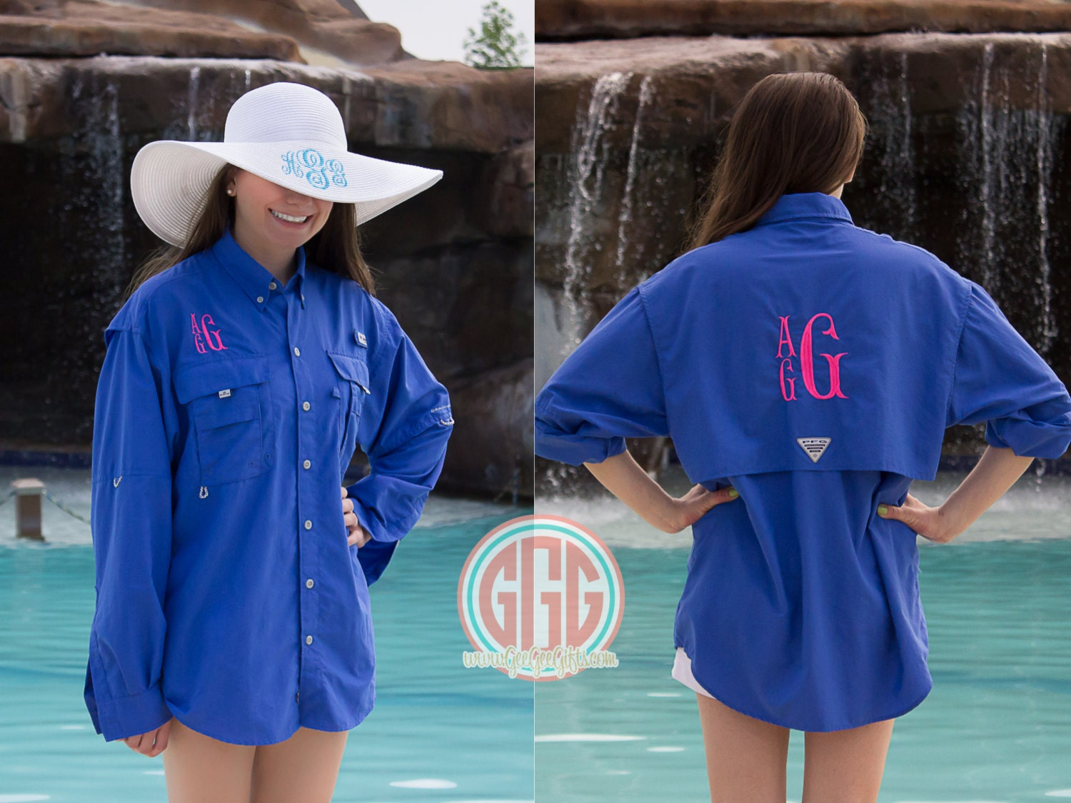 Columbia PFG Fishing Shirt Swim cover up long sleeve men's size, monogram Bridal Party Cover up, bathing suit swim cover up