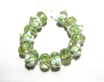 1 Strand Handmade Glass Lampwork Beads (B66d5)