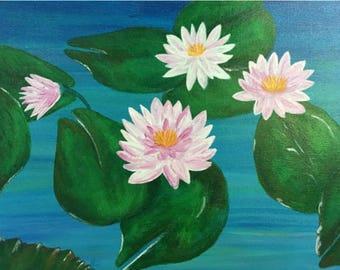 Modern Art Painting, Handmade Acrylic on Canvas, ready to hang 16x20