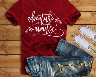 Adventure Awaits Svg, Adventure Svg, Quotes Svg, Inspirational Quote Svg,Dxf,Png,Jpeg