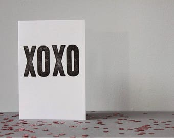 Love you//Hugs and Kisses//loved one//mothers day//mum//mom//just to say//simple//mono//monochrome//get well//letterpress