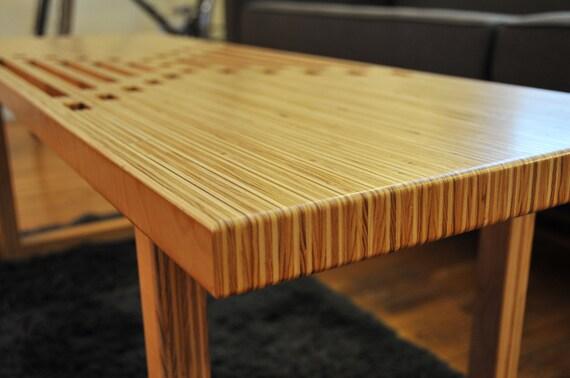 Handmade Birch Plywood Coffee Table / Bench