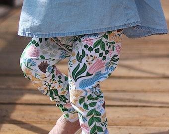 Garden Leggings - Organic Baby Leggings - Spring Leggings - Bunnies - Organic Kids Clothing - Spring Baby Pants -