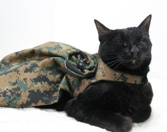 Military Cat Dress with Army Camouflage