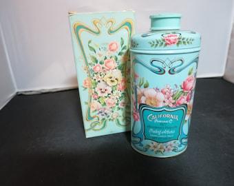 Vintage Avon Trailing Arbutus Perfumed Talc Tin and Box 1977