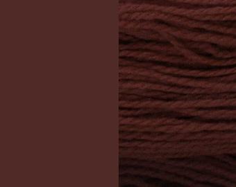 Wool yarn, brown, bulky 2-ply worsted pure wool knitting yarn 50g/65m cake