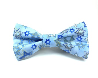 Hanukkah Removable Dog Bow Tie / Chanukah Removable Dog Collar Bow Tie / Dog Bow Tie / Holiday Dog Bow Tie / Made to Order