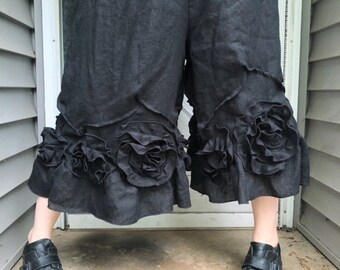 Cropped Black Swirly Bloomers XL