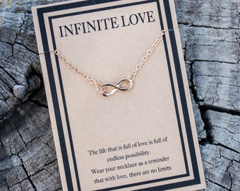 Infinity Necklace - Infinite Love Necklace - Gold Love Love Necklace