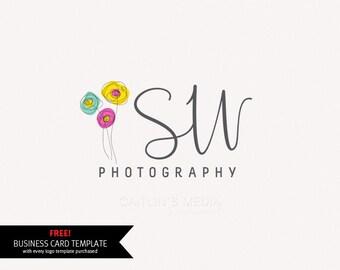 Photography logo - premade logo design - cute logo watermark logo design - DIY psd logo template.