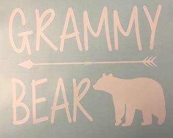 Grammy Bear Decal