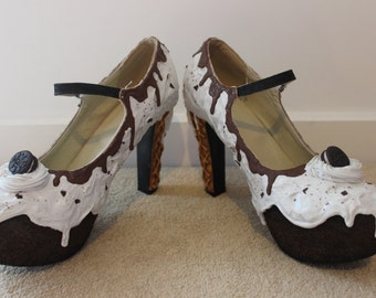 Cookie and Cream Oreo Shoes