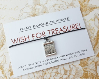 Pirates of the Caribbean Gift, Pirates of the Caribbean Wish Bracelet, Pirates of the Caribbean Jewelry, Pirate, Friendship Bracelet,