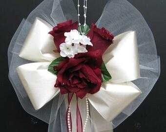 12 PEW BOWS Church Decoration Wedding Bouquet Bridal Silk