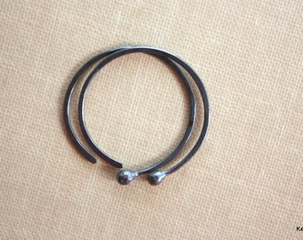 Copper Hoop Earrings, Small Hoop Earrings, Oxidized Earrings