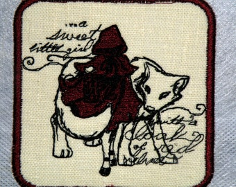 """Red Riding Hood Iron on Patch- 4"""""""