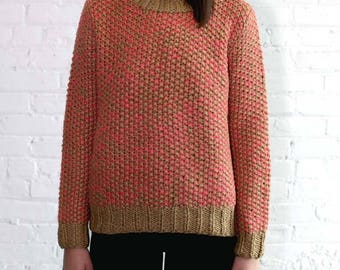 Crewneck Handknit Sweater