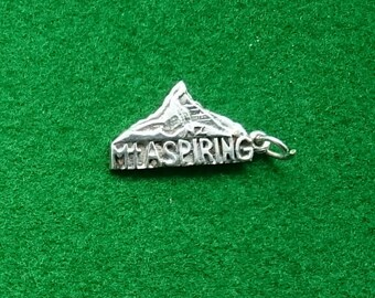 Sterling Silver Charm Or Pendant Mt Aspiring New Zealand.