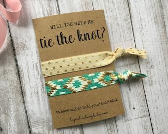 Hair Ties, Bachelorette Party Favors, Hair Tie Bridesmaid, Hair Tie Favors, Hair Ties Bulk, Bridesmaid Proposal, Custom Hair Ties
