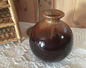 Beautiful vintage brown vase