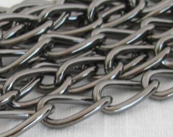 Gunmetal Plated Steel Purse or Belt Chain Ch013 -3 Feet