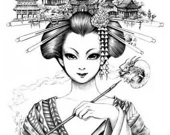 Fabula Geisha signed art print