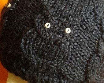 7 Owl Beanie knit pattern