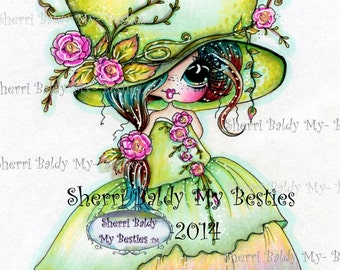 INSTANT DOWNLOAD Digital Digi Stamps Big Eye Big Head Dolls Digi  Josephina By Sherri Baldy
