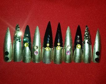 Cairo (claws) stiletto fake nails