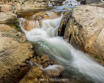 River, NH, Photograph, waterfall