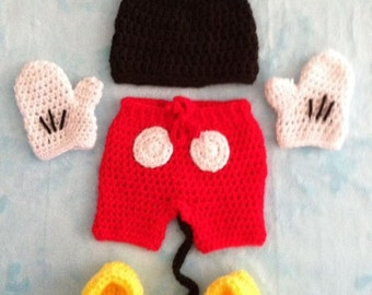 Mickey Mouse Diaper Cover Set - PHOTO PROP