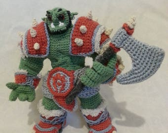 War Orc from Warcraft - knitted figure