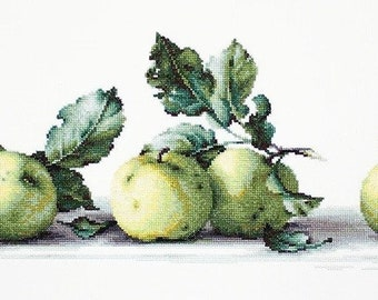 Still Life with apples SB2259 - Cross Stitch Kit by Luca-s