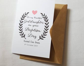 Goddaughter Baptism Card | Christening Day Card | Personalised Goddaughter Card | My Goddaughter Card | Our Goddaughter