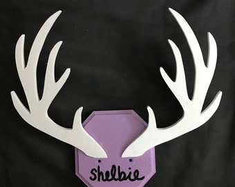 Monogrammed Antlers for Hanging Bows/Jewelry 3D Print